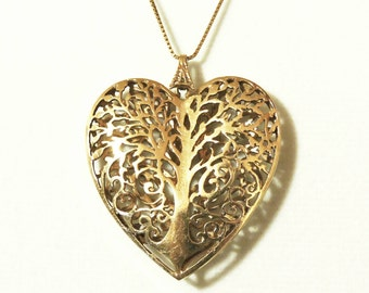 Sale Gold Heart Necklace 14K- Valentine's Gift