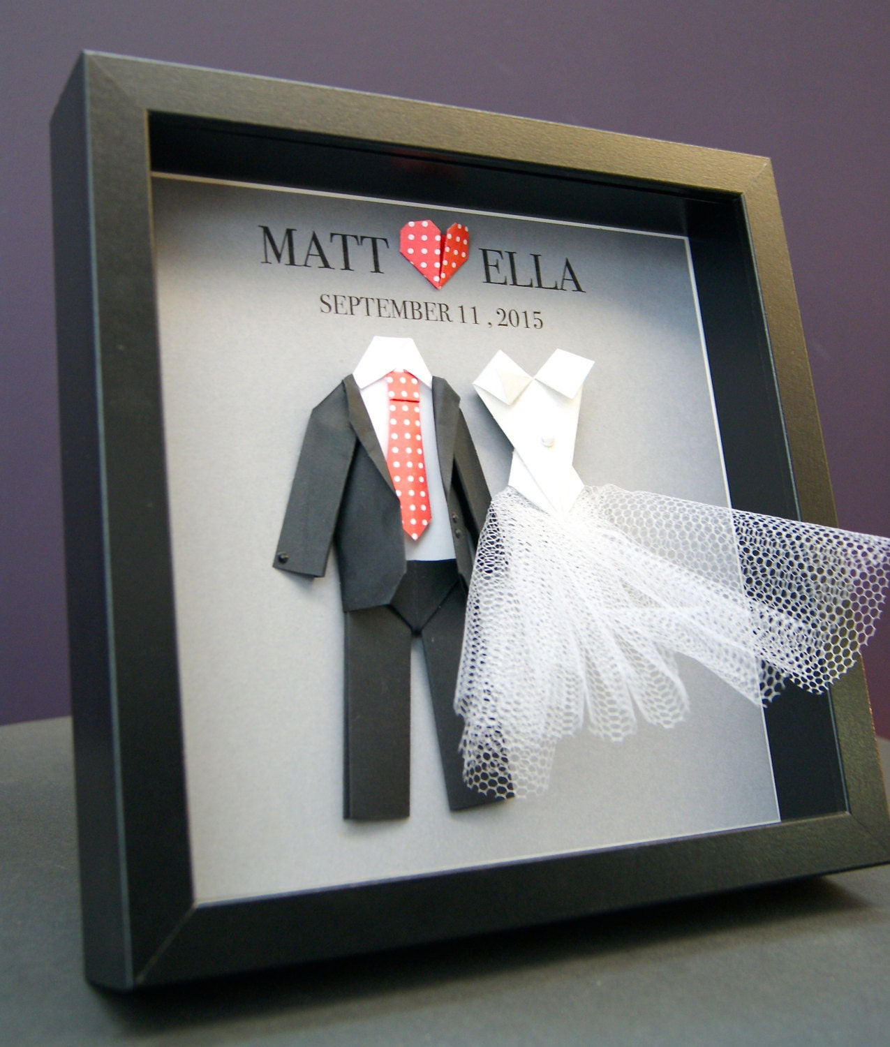 unique personalized wedding gift engagement by paintandpapercraft