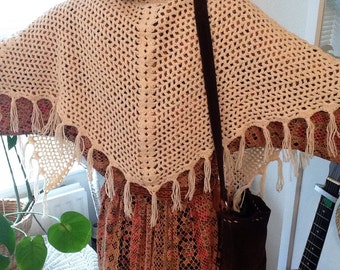 1970's Knitted Shawl