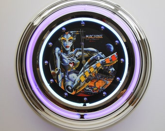 Pinball Officially Licensed Premium Neon Wall Clock 13 - Ideal Pinball Gifts