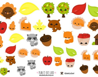 Fall Cuties (planner stickers)