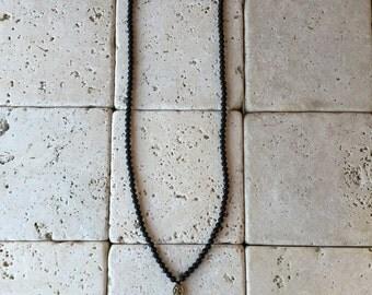 Necklace - Bronze Fleur de Lis Renaissanse  Cross