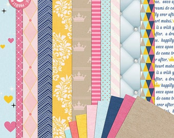 Project Mouse: Princess (Papers) - Perfect for Project Life & Digital Scrapbooking Cinderella, Ariel