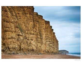 Landscape Photography PRINT, The Cliffs at West Bay - 1, Wall Art