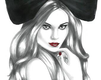 Print from original fashion illustration, Chloe