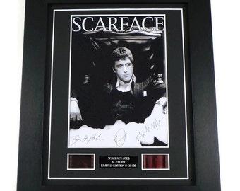 scarface film cell original movie memorabilia in picture frame