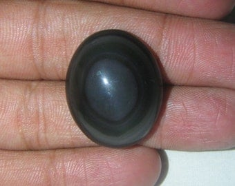 Natural Black Obsidian cabochon Oval shape loose semi precious gemstone cabochon size 22 x 27 mm approx code  3238 wholesale  gemstone