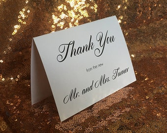 Thank You from the new Mr. and Mrs. w/ Color Envelopes~~Wedding
