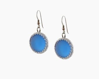 """Blue """"Luna """" earrings"""