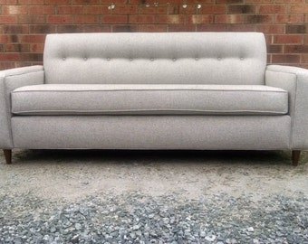 Mid-Century Modern Sofa. Graige Upholstery- Fabric. 82 inch. FREE in-home delivery on the East Coast