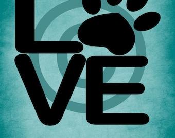 Love Paw Wall Vinyl