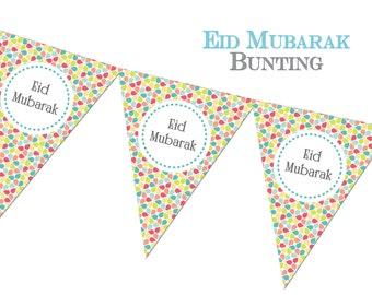 Eid Mubarak Bunting, Eid Decorations, Eid Celebrations, Eid Decor, Party Muslim Festival
