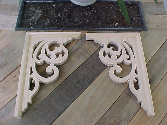 Victorian Gingerbread Bracket 33 With Trim 1 Pair By