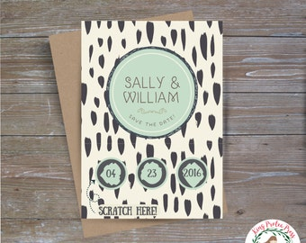 Whimsical Save the Date Scratch Off