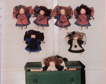 """Angel Dolls 5"""" Tall Pattern - Make a Garland of Dolls - All Tied Up in Knots - by Dotti's Designs"""