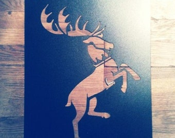 Set of 3 reusable plastic Stencils Wall decor/ Game Of Thrones/ Ours is the Fury, Baratheon