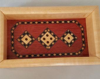 Wooden Valet Tray, Inlay Valet Tray