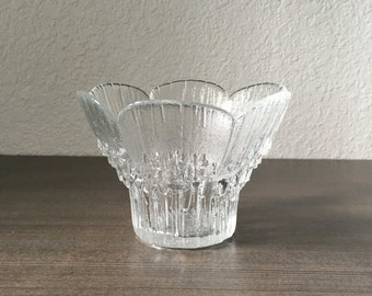 ON SALE Vintage Lasise of Finland Glass Flower Vase or Votive Candle Holder