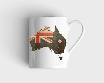 AUSTRALIAN MAP Satin Coated MUG
