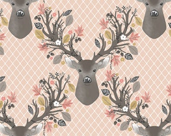 Stag Forest In Shell  Baby Crib Fitted Sheet, Deer, Going Stag, peach, baby, fitted sheet, custom sheet