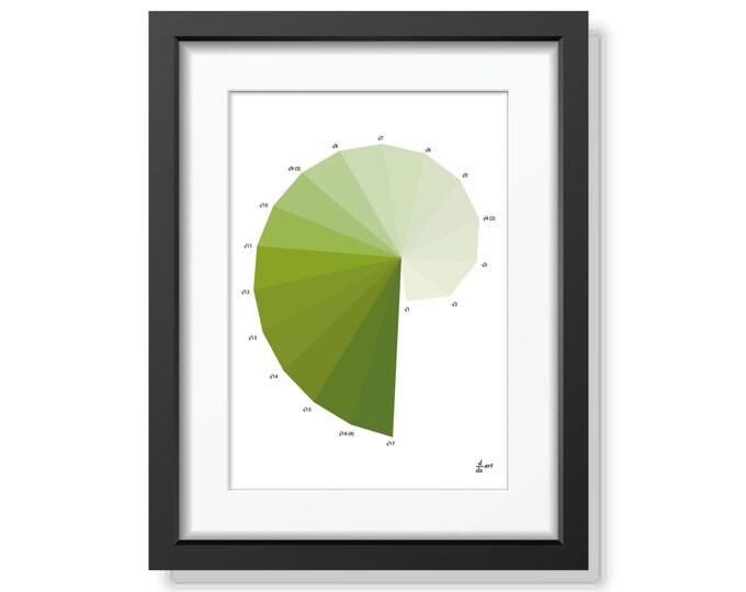 Nautilus 08 [mathematical abstract art print, unframed] A4/A3 sizes