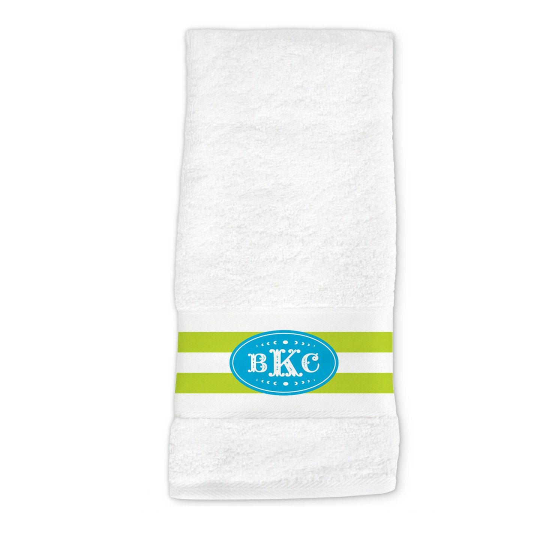 Monogram Hand Towel Monogram Dish Towel Monogrammed Kitchen
