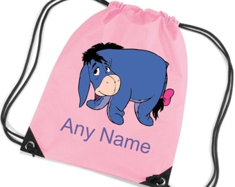Personalised EEYORE PE/Swim/School Bag - *Choice of colours*