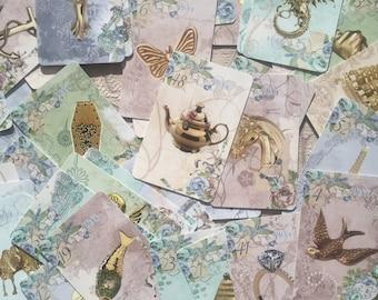 High Tea DECK - Bridge Size. Tea Leaf Reading Cards.  Tea Leaf Fortune Telling Cards. Bridge Size. Oracle Cards.  Tea Leaf readings.
