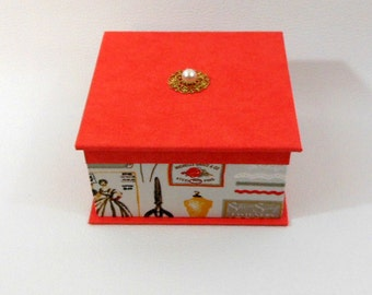 BOX jewelry orange - orange jewellery box