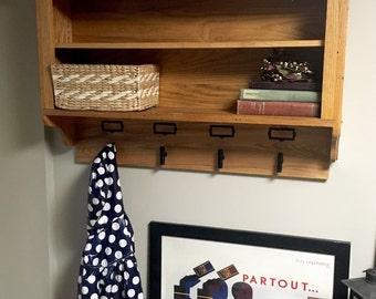 Entryway coat hook cabinet, cubby, shelf, entry organization, mudroom storage, coat organization