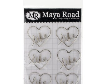Maya Road Metal Vintage Trinket Like Heart Clips