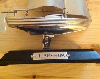 Model boat. (HILBRE). Uk