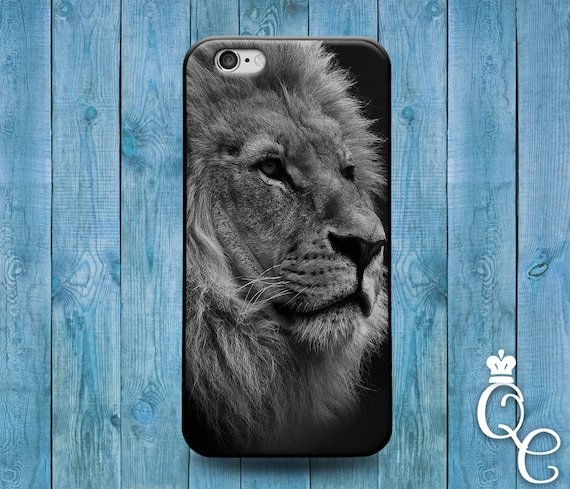 iPhone 4 4s 5 5s 5c SE 6 6s 7 plus iPod Touch 4th 5th 6th Gen Cute Black White King of the Jungle Lion Face Phone Cover Cool Animal Case