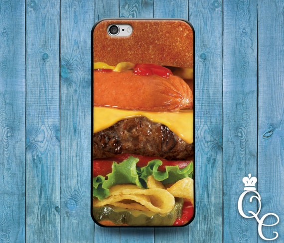 iPhone 4 4s 5 5s 5c SE 6 6s 7 plus iPod Touch 4th 5th 6th Generation Cute Food Phone Cover Cool Hamburger Hot Dog Burger Funny Custom Case