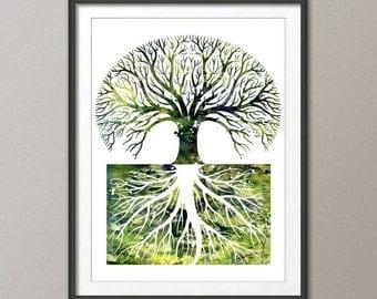 Tree Art Print - modern art, home decor, gallery wall, abstract, wall art, kitchen decor