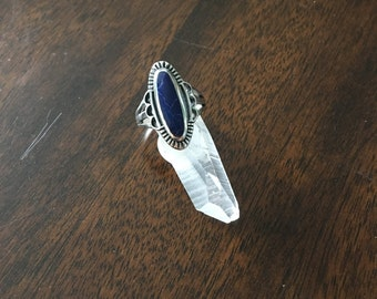 925 Sterling silver ring with sodalite size 6