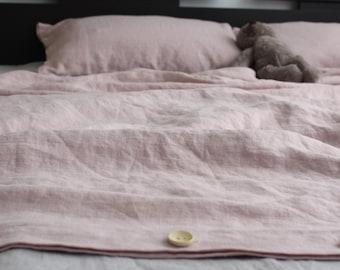 Pink DUVET COVER SET handmade of 100% ecofriendly  high quality linen, single, twin, double, full, queen, king bedlinen