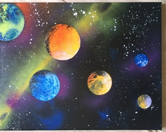 Multi planet space painting