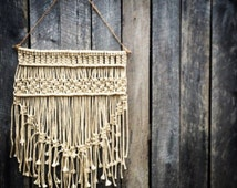 Neutral Cream Macrame Wall Hanging