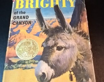 "Vintage ""Brighty of the Grand Canyon"" Book **FREE SHIPPING**"