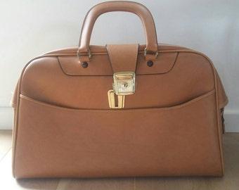 Retro Weekend Bag Camel Color '60