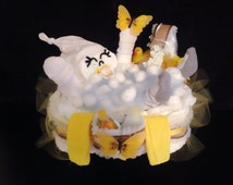 11 colors available!!! one of a kind Happy Baby playing with butterfly in the Bath Tub Diaper Cake