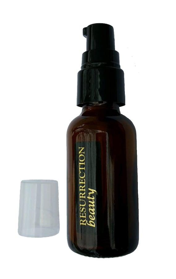 L Amber Pump Glass Bottle