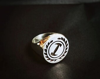 Simpsons Ring / Stonecutter Signet Ring / Silver Signet Ring