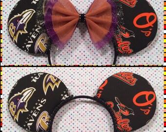 Baltimore Ravens & Orioles Mash Up Mouse Ears