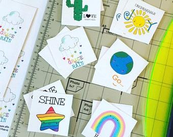 Kawaii Sticker Set {Fresh Picked Grace Designs}