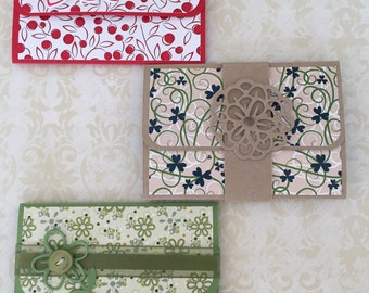 Handcrafted Gift Card Holders