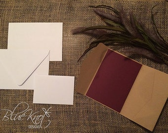 DIY Wedding Invitation Suite - Vertical Side Pocket Design