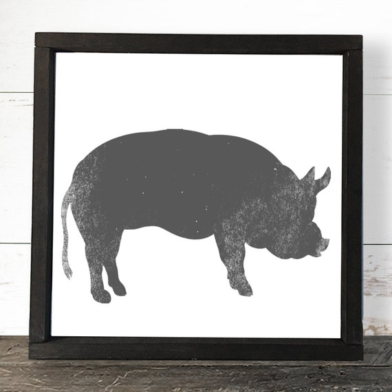 Pig Kitchen Decor Pig Decor Farm Animals By SorellebyJenn