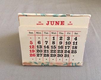 Vintage Paper Perpetual Calendar